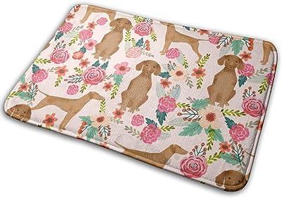 """Vizsla Floral Dog Florals Dog Design_16477 Doormat Entrance Mat Floor Mat Rug Indoor/Outdoor/Front Door/Bathroom Mats Rubber Non Slip 23.6"""" X 15.8"""""""