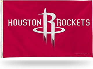 Rico Industries NBA Houston Rockets 3-Foot by 5-Foot Single Sided Banner Flag with Grommets