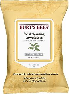 Burt's Bees vochtige doekjes voor gezichtsreiniging voor gevoelige huid met katoenextract, 30 stuks Witte thee-extract