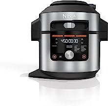 Ninja OL601 Foodi 14-in-1 8-qt. بخارپز بخار فشار XL با SmartLid ، نقره ای/مشکی
