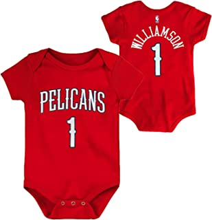 OuterStuff NBA Newborn Infants Team Color Name and Number Player Bodysuit Creeper