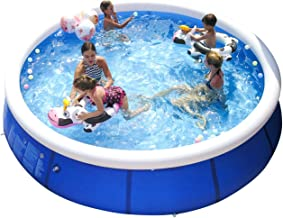 WowTowel Inflatable Swimming Pools for Kids and Adults Above Ground, Blow Up Family Pool Portable Easy Set Pools Games for Outdoor Backyard Garden (10ft x 30in)