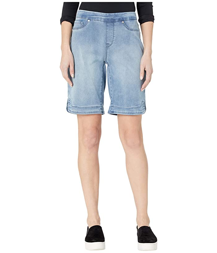 Tribal Pull-On Bermuda Shorts w/ Curved Side Slit (Blue Mist) Women's Shorts