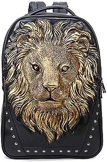 Mochila Moda Personalidad Mochila Hombres 3D león Cabeza Tendencia de la Moda