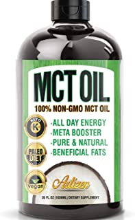 MCT Oil (35 oz Pure) Keto Supplement | Ketogenic MCT Fractionated Coconut Oils C8 Triglycerides for Weight Loss Diet, Fasting | Great in Keto Coffee,Tea, Smoothies & Salad Dressing | Vegan Vegetarian