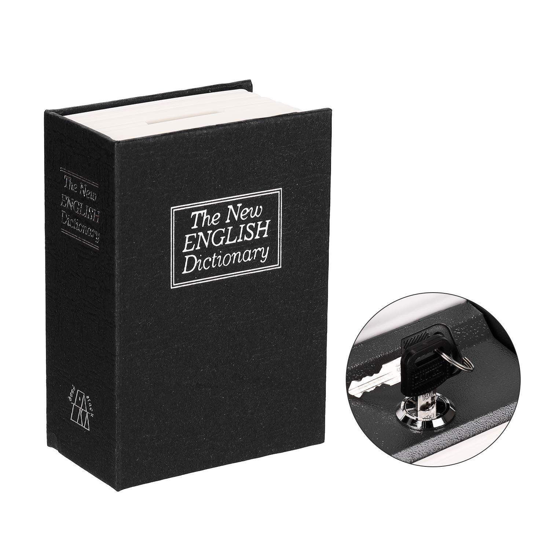 Ajcoflt Caja secreta Diccionario Caja fuerte Libro Dinero Cerradura de seguridad oculta Efectivo Moneda Almacenamiento Bloqueo de llave para regalo de niño: Amazon.es: Oficina y papelería