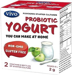 VIVO Probiotic Yogurt Starter/Natural (5 boxes) Makes up to 30 quarts of yogurt.