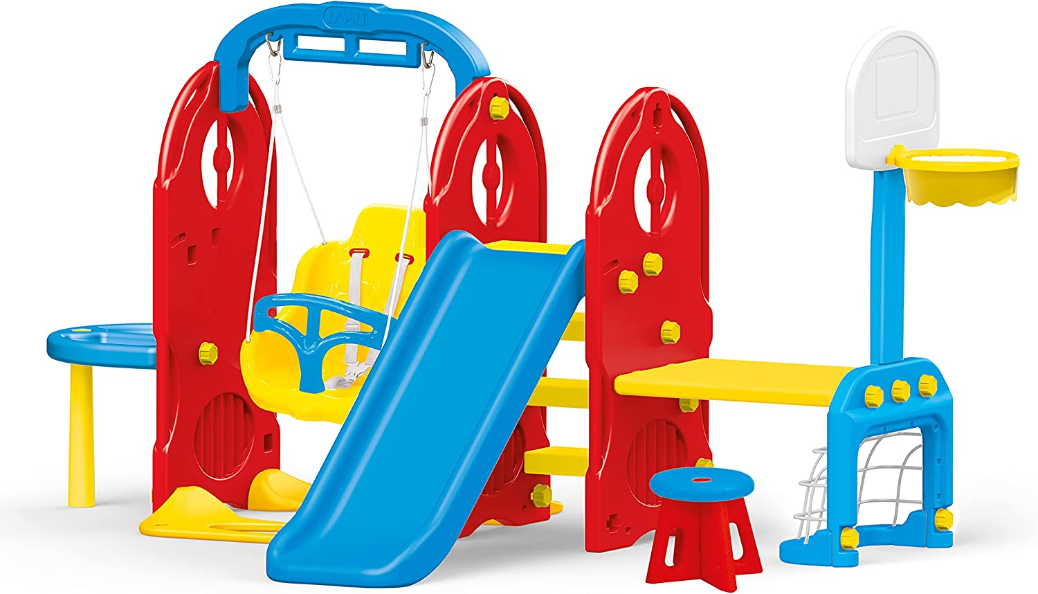 Dolu Toys - Limited time sale 7-in-1 Backyard Excellent Playground
