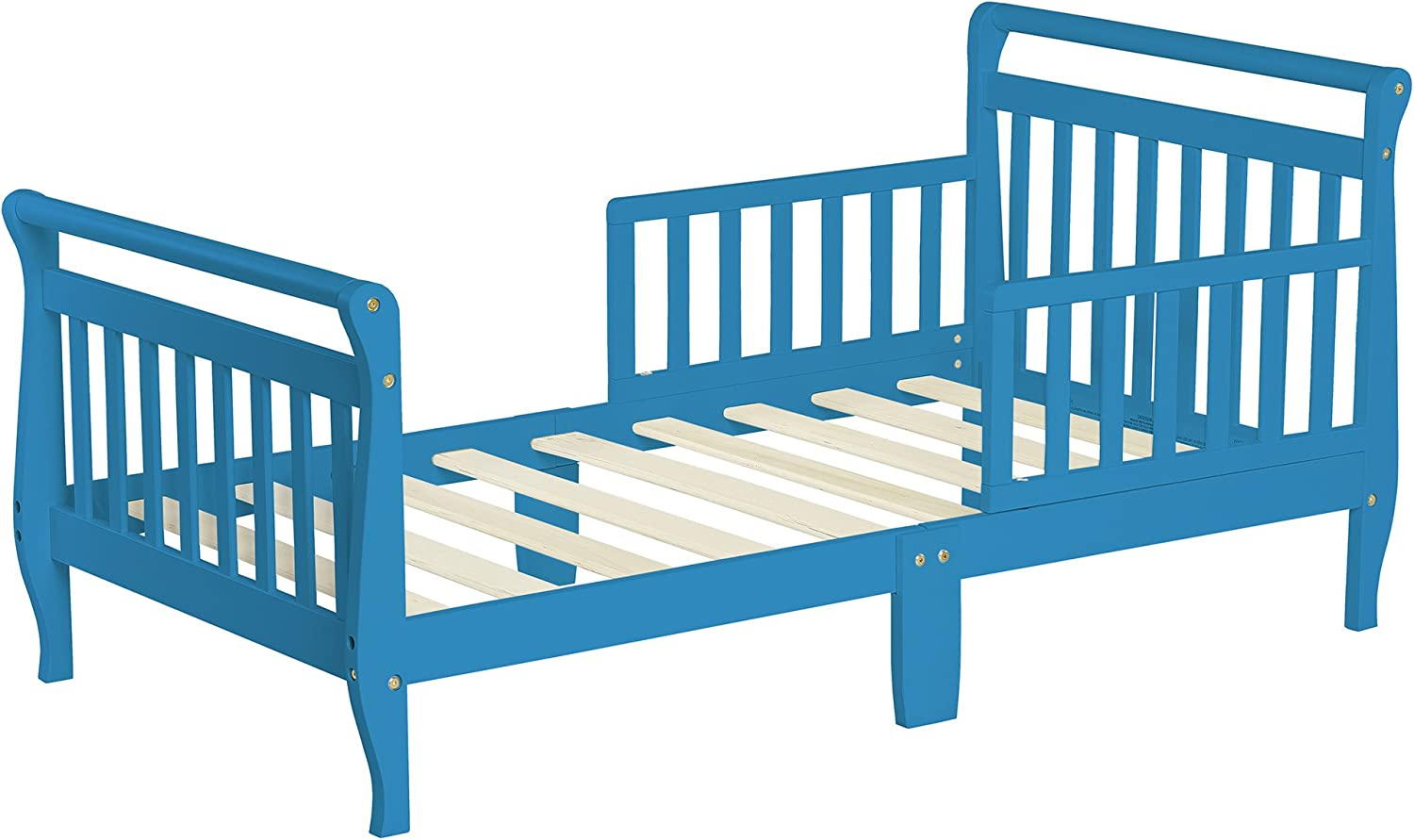 Dream On Me Sleigh Toddler Bed, Wave bluee, 24 Pound