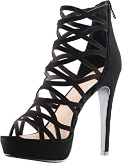MARCOREPUBLIC Alexandra Womens Open Toe High Heels Platform Shoes Stiletto Dress Sandals