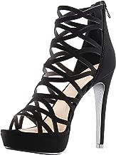 MARCOREPUBLIC Alexandra Womens Open Toe High Heels Platform Shoes Stiletto Dress Sandals