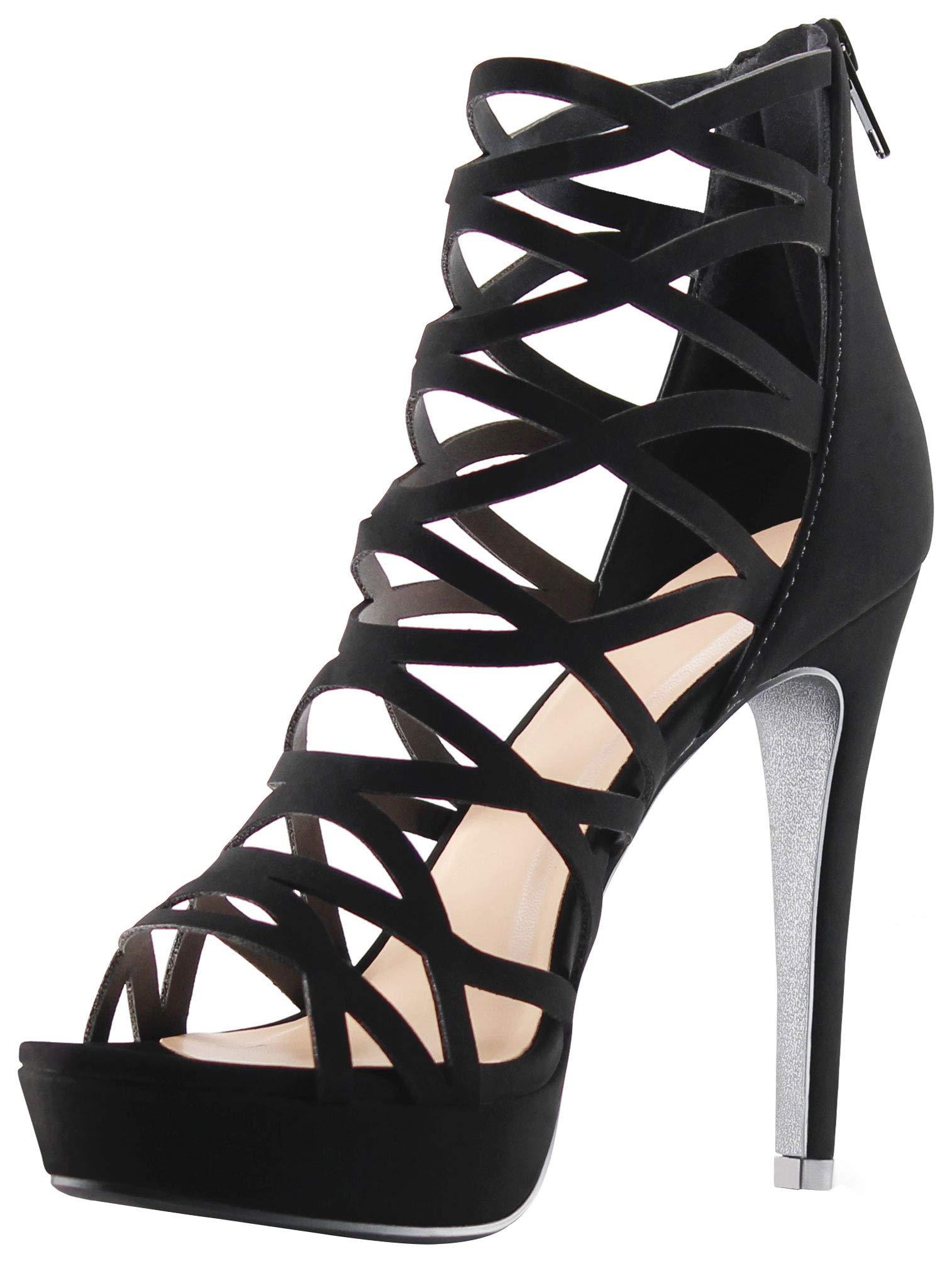 AFFORDABLE FOOTWEAR Platform Stiletto Sandals