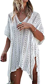 Bestme Women's Crochet Bikini Swimsuit Swimwear Bathing Suit Cover Up Tunic Tops Beachwear
