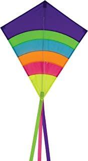 In the Breeze Neon Arch 27 Inch Diamond Kite - Single Line - Ripstop Fabric - Includes Kite Line and Bag - Great Beginner Kite
