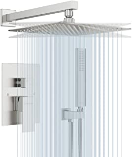 EMBATHER Shower System-Brushed Nickel Shower Faucet Set for Bathroom- State-of-the-art..