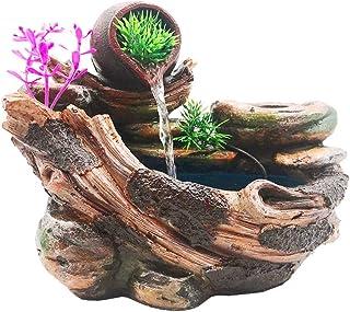 ミニ 噴水 インテリア 雑貨 卓上 噴水 ミニ 盆栽 玄関 風水 置物 微景観雑貨 植物は含まないAC110V