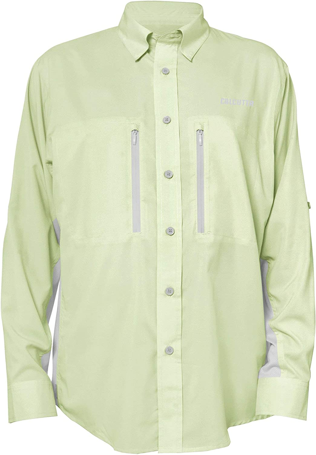 Calcutta Men's Long Sleeve Olive Fishing Shirt Outlet ☆ Free Shipping Max 89% OFF Performance