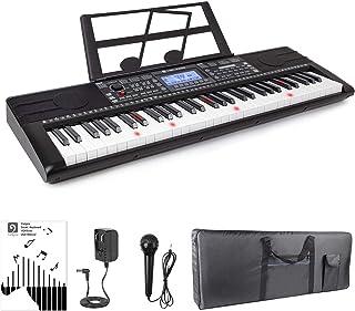 Vangoa Vangoa VGK6200 61 Lighted Keys Electronic Piano Keyboard with LCD Display, Piano Gig Bag