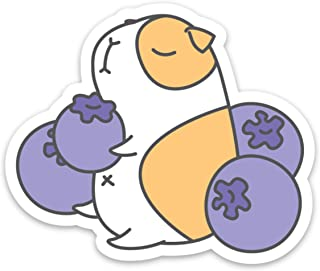 Blue Berries and Guinea Pig Laptop Sticker