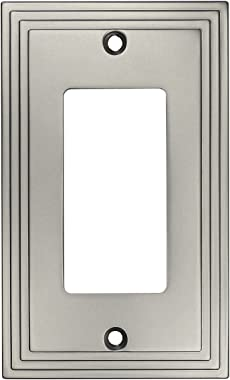 Cosmas 25000-SN Satin Nickel Single GFI/Decora Rocker Wall Switch Plate Switchplate Cover