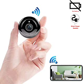 ENEM WQ11 Mini WiFi IP Wireless Hidden Spy Cameras , Small Size, Cloud Based Storage, Night Vision, Motion Detection, Two Way Communication, Supports Upto 32 GB Micro SD Card, Remote View from Anywhere - Pack of 01