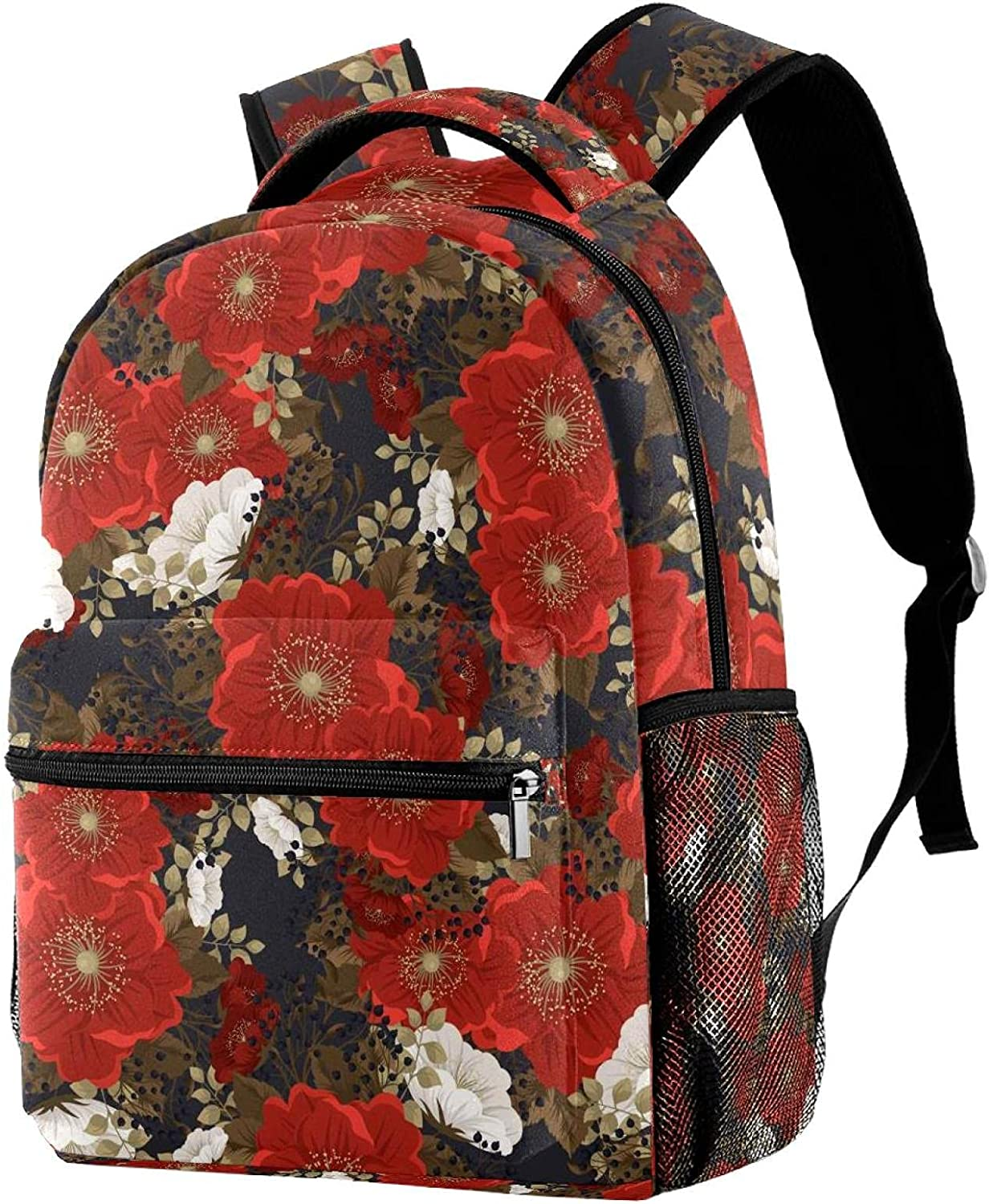 Cute Trust Purchase Light Weight Red Flower Backpacks Bags Printing wi Daypacks