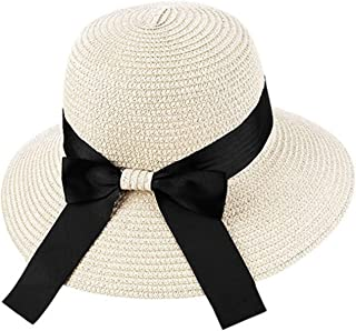 c21173a667831 Female Hat Fashion Hats Beach Sun Cap Casual Bowknot Ribbon Holiday Sun Hat
