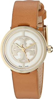 Tory Burch Women's Quartz Watch, Analog Display and Leather Strap Trb4004