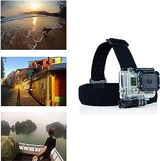Navitech 調節可能な弾性ヘッドヘルメットストラップマウントハーネス SJCAM M10 Cube Mini| M10+| SJ X1000| SJ4000+| SJ5000+| SJ5000x Elite & SJ5000x
