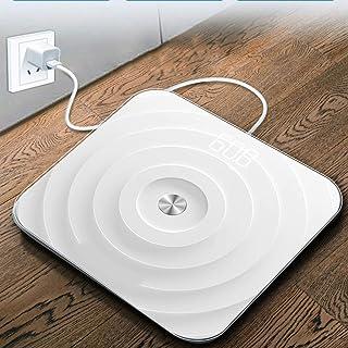 Báscula Grasa corporal Escalas Digital Báscula Bluetooth de grasa corporal, y ensayos de seguridad inteligente de baño digital de peso for la composición corporal Analizador Con Smart APP báscula inte