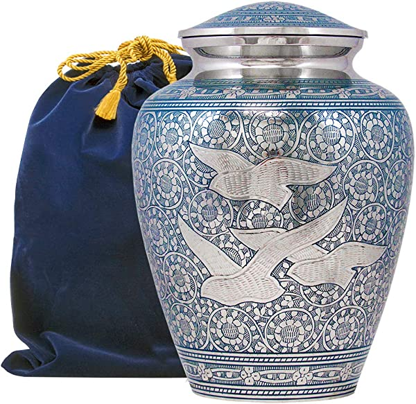 Wings Of Love Elegant Adult Cremation Urn For Human Ashes A Beautiful And Timeless Urn To Honor The One Your Love Find Comfort Everytime You Look At This High Quality Urn With Velvet Bag