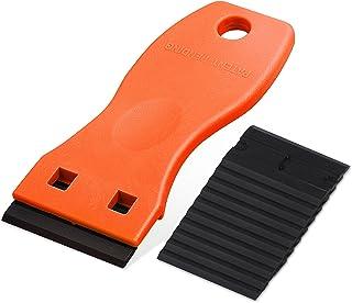 Ehdis Mini kunststof schraper met 10 kunststof messen, plastic schraper, plastic spatel, voor lijmresten verwijderaar, lij...