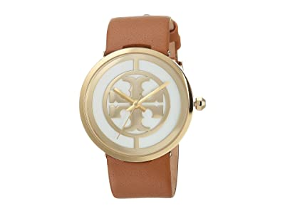 Tory Burch Reva Leather Watch (Light Brown TBW4020) Watches
