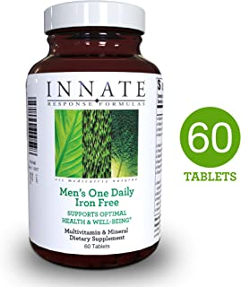 INNATE Response Formulas - Men's One Daily Iron Free, Foundational Multivitamin Formula for Men in One Convenient Tablet, 60 Tablets