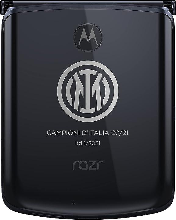 Motorola razr 5g scudetto inter 2020/2021 fotocamera 48 mp octa-core qualcomm sd765 2800 mah dual sim 8/25 43191501