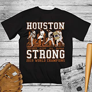 Houston Strong 2019 World Champions Playoffs Baseball Verlander-Altuve-Cole-Bregman Shirt Customized Handmade Hoodie/Sweater/Long Sleeve/Tank Top/Premium T-shirt