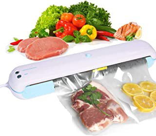 Vacuum Sealer Machine, Automatic Food Saver Vacuum Sealer Machine dry and moist, Air Sealing System, Includes 10 Vacuum Bags & LED Indicator, Dry & Moist Food Modes, Compact & Easy Clean.