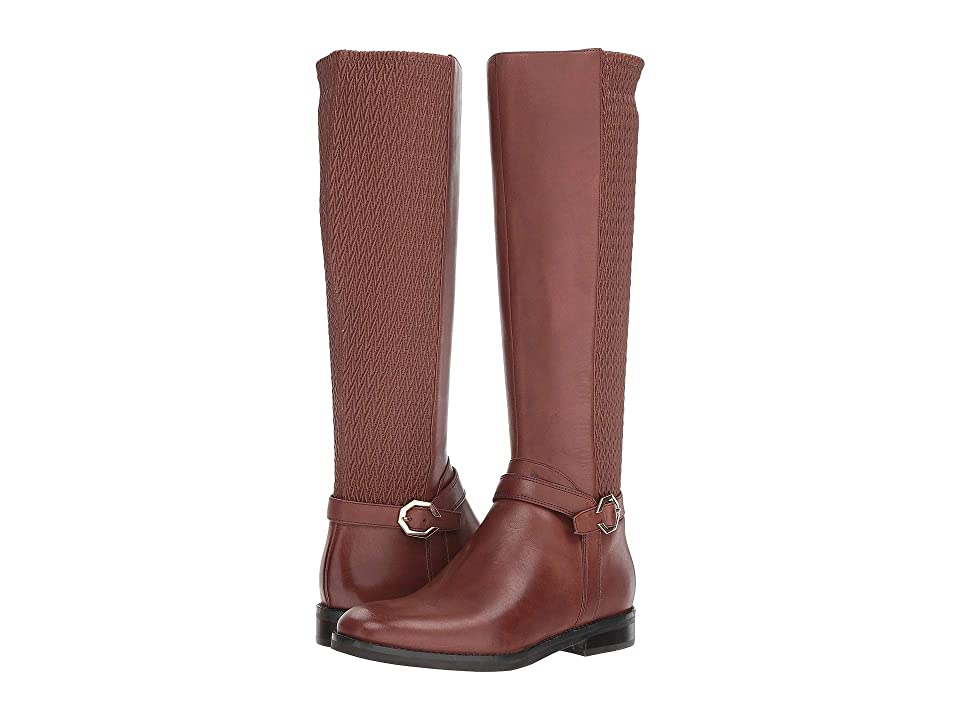 Cole Haan Leela Grand Riding Boot (Harvest Brown Leather) Women