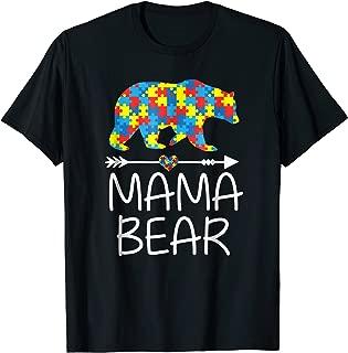 Mama Bear Autism Awareness T-Shirt Autism Mom,Mommy Tee
