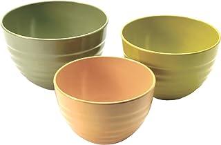 Norpro Bamboo Melamine Ribbed Bowls,