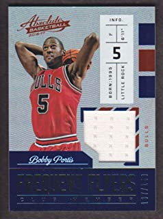 2016-17 Absolute Basketball Frequent Flyer Jersey #10 Bobby Portis 137/149 Chicago Bulls