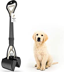 TIMINGILA 28  Long Handle Pet Pooper Scooper for Dogs and Cats with High Strength Material and Durable Spring Easy to Use for Grass, Dirt, Gravel Pick Up