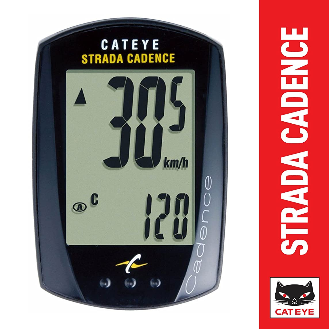 CatEye Black Strada Cadence Wired Road Bike Computer