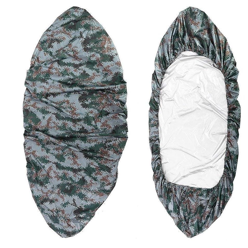 お嬢半導体安心させるカヌー カヤックカバー 収納カバー アクセサリー 防水 防塵 UV保護 ボートカバー 日除け 8サイズ選べ ライト迷彩