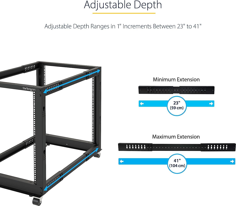StarTech.com 42U Open Frame Server Rack - 4 Post Adjustable Depth (22