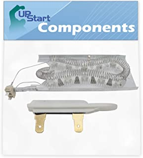 3387747 Dryer Heating Element & 3392519 Thermal Fuse Kit Replacement for Maytag MEDC700VW0 Dryer - Compatible with WP3387747 & WP3392519 Heater Element & Thermal Fuse Kit - UpStart Components Brand