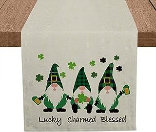 Artoid Mode Lucky Charmed Blessed Gnomes Table Runner, Seasonal Horseshoe Beer Shamrock St. Patrick's Day Holiday Kitchen ...
