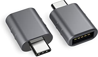 Syntech USB C to USB Adapter (2 Pack), Thunderbolt 3 to USB 3.0 Adapter Compatible with MacBook Pro 2019 and Before, MacBook Air 2019/2018, Dell XPS and More Type C Devices, Space Grey (Renewed)