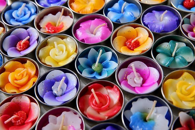 基本的な横に印刷するHighclass glamour アロマ キャンドル フラワーキャンドル ティーライトキャンドル アロマの香り 10個 セット