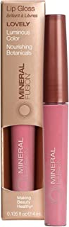 Mineral Fusion Lip Gloss, Lovely, 0.135 Ounce (Packaging May Vary)